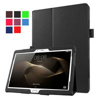 """Ultra Slim PU Leather Case Cover For 7"""" 8"""" 10.1"""" Huawei Mediapad M1 M2 T2 Tablet"""