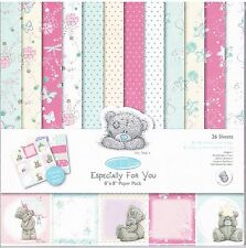 """Docraft 'Especially For You' me to you tatty teddy backing paper pack 8x8"""" 26 pk"""