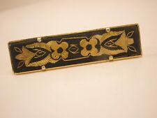 Damascene Vintage Tie Bar Clip gift floral spanish spain