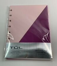 Tul Discbound Notebook Soft Covers 55x85 Pink Purple Custom Note Taking System