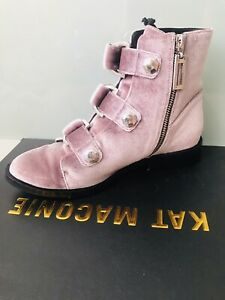 KAT MACONIE velvet/ Leather Dust Pink Shoes Size 36/UK3