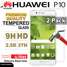 2x GENUINE Premium Tempered Glass Screen Protector Film for Huawei P10