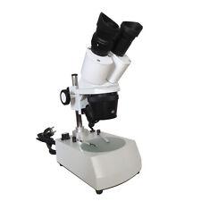 Microscopio Binocular iluminado Estéreo 20x-40x-80x con iluminación LED Top Parte inferior