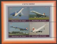 Chad 7648 - 2018 CONCORDE  perf sheet of 4 unmounted mint