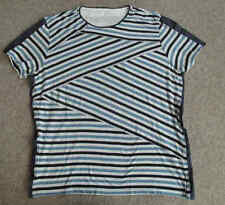 Waist Length Crew Neck Striped Plus Size T-Shirts for Women