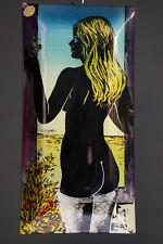 Cesart Peinture derrière Verre Érotique Art Nova Friulana Nu Rückwärtig Femme