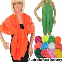 Summer Cover Up Beach Sarung Party Wedding Prom Formal Shrug Shawl Scarf Oblong