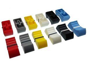 8mm Cap for Slider / Fader / Pot Knob - 6 Colours - Potentiometer / Mixer