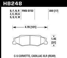 Hawk HP+ Rear Brake Pads For 97-13 Chevrolet Corvette / Cadillac XLR #HB248N.650