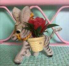 Vintage Kitsch Felt Donkey Decoration
