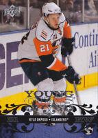 08-09 Upper Deck Kyle Okposo Young Guns Rookie Islanders Sabres 2008