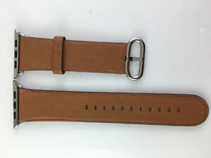 Original OEM Apple Watch Classic Buckle leather band 42mm 44MM 45MM Saddle Brown