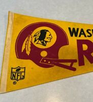 Washington Redskins Vintage 1970's NFL Football Felt Pennant Helmet Full Size