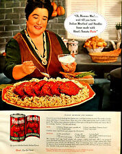 Vtg 1963 Hunt's tomato paste Mamma Mia recipe retro advertisement print ad art