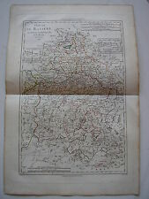 CARTE de BAVIERE par BONNE carte ancienne 1787 neuburg munich passau salzburg 48