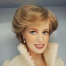 "Franklin Mint 17"" Porcelain Doll In Original Box-Princess Diana Portrait Doll"