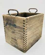 New listing Willard battery Wooden Box with Metal Handles - A 1207 9 x 7.5 x 8