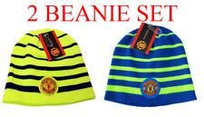 Manchester United Beanie  Neon Skull Cap Hat New Season set 2
