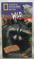"National Geographic Kids Video Really Wild Animals ""Amazing North America"" VHS"