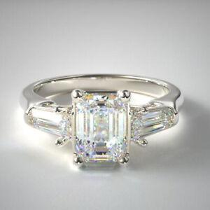 1.40 Carat Diamond 950 Platinum Gorgeous Bridal Wedding Ring Size L M N O P Q1/2