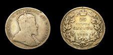 Canada 1902H Twenty-Five 25 Cent Piece King Edward VII VG-10