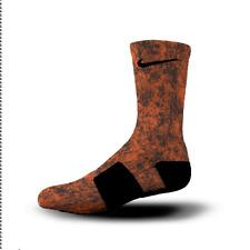Custom Nike Elite Socks All Sizes ORANGE OCTOBER