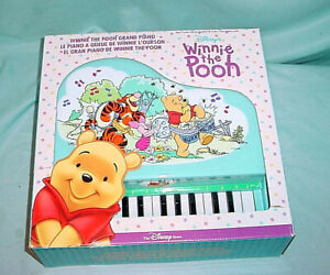 Mini Grand Piano 24 Keys Blue Disney Winnie The Pooh Electronic Keyboard Record