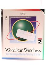 RARE WORD PROCESSING SOFTWARE WORDSTAR V.2 FOR WINDOWS BY SOFTKEY INTERNATIONAL