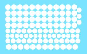 Decalcomanie Decals rond blanc 1/87 à 1/8 10 à 16 mm white circle Decal