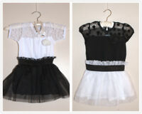 Summer Black and White Birthday Disco Beach Holiday Dress for girl 3 - 5year