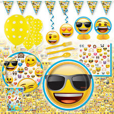 Emoji Emoticon Deluxe Children's Birthday Party Pack Decoration Kit For 16