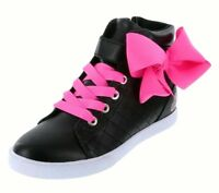 Jojo Siwa - JoJo Hi-Top Bow Sneakers Shoes Black Pink Girls' Size 13-6