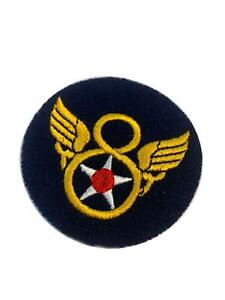 Reproduction World War Two Era US Insignia, Stubby Wing on Felt, 8th Air Force
