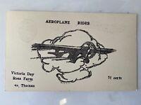 Vintage Postcard, Advertisement for Airplane Rides in St. Thomas Ontario, c1930s