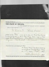 12 1800's State Of Indiana Summons Warrants Wabash Circuit Court Paper Documents