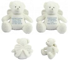 Personalised Teddy Bear First Holy Communion Christening Baptism Zippie Angel