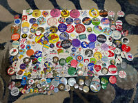Vintage Button Pin Pinback Collection Lot from 1960-1990 Disney Political - Rare