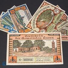 7 x Notgeld der Gemeinde Quern , german emergency money , M/G 1091.2 , kfr/unc