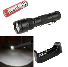 UltraFire Flashlight WF-502B CREE T6 LED 2000LM Torch light + 18650 + Charger
