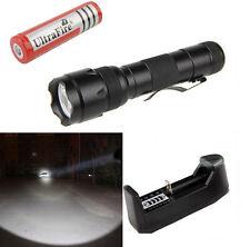 UltraFire Flashlight WF-502B CREE T6 LED 2000LM Torch light + 18650 + Charger
