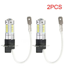 2Pcs H3 6500K White 25W 4014 30 SMD High Power 1200LM LED Fog Light Lamps Bulb