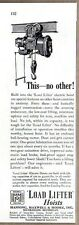 1949 Print Ad Load Lifter Electric Hoists Manning,Maxwell,Moore Muskegon,MI