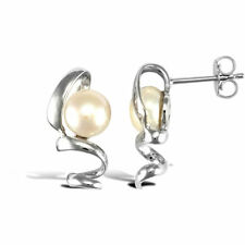 Natural Pearl Round Costume Earrings