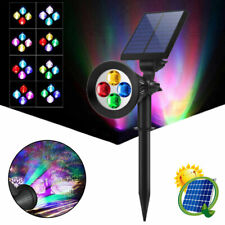 4LED Colorful Solar Garden Spot Light Outdoor Lawn Landscape Spotlight Lighting