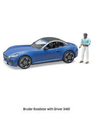 Bruder #03481 Blue Roadster with Driver New! In Factory Box
