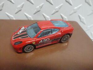 Loose Hot Wheels CUSTOM Red Ferrari F430 Challenge w/Lace Wheels