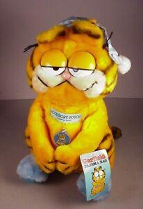 Dakin Garfield Cat plush toy Pajama Bag 1981 Cartoon Stuffed Animal New w/Tags