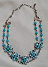 Collar / gargantilla / necklace con flores (Swarovski crystal and silver plated)