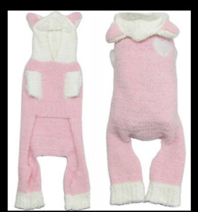 Hip Doggie Pink Snow Bunny Jumper Size Large NWT