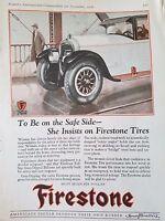 1926 Firestone Tires Be On The Safe Side Original Ad